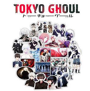 Набор виниловых наклеек Токийский гуль / Tokyo Ghoul  25шт.