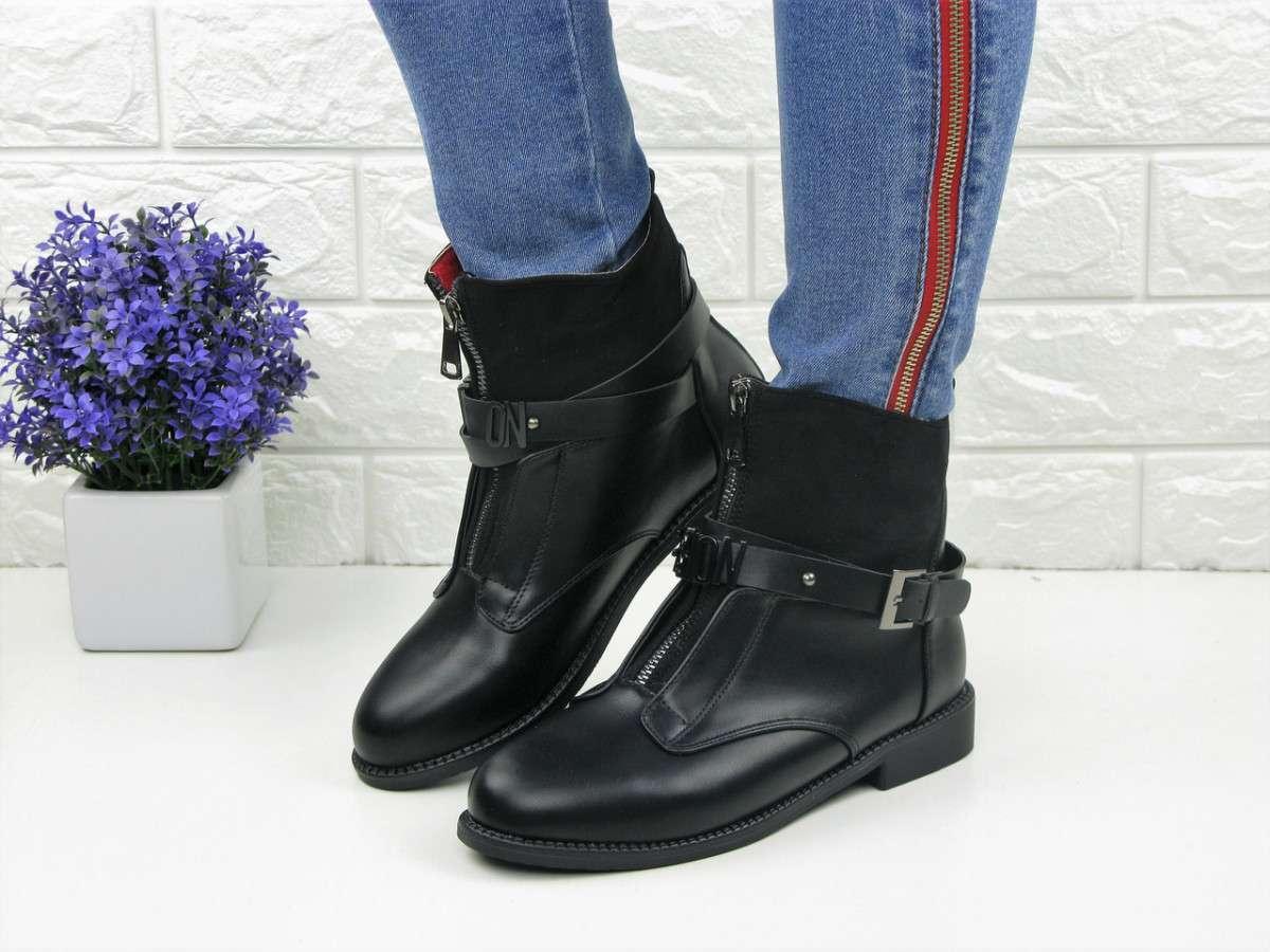 Женские черные ботинки Wendy 1088