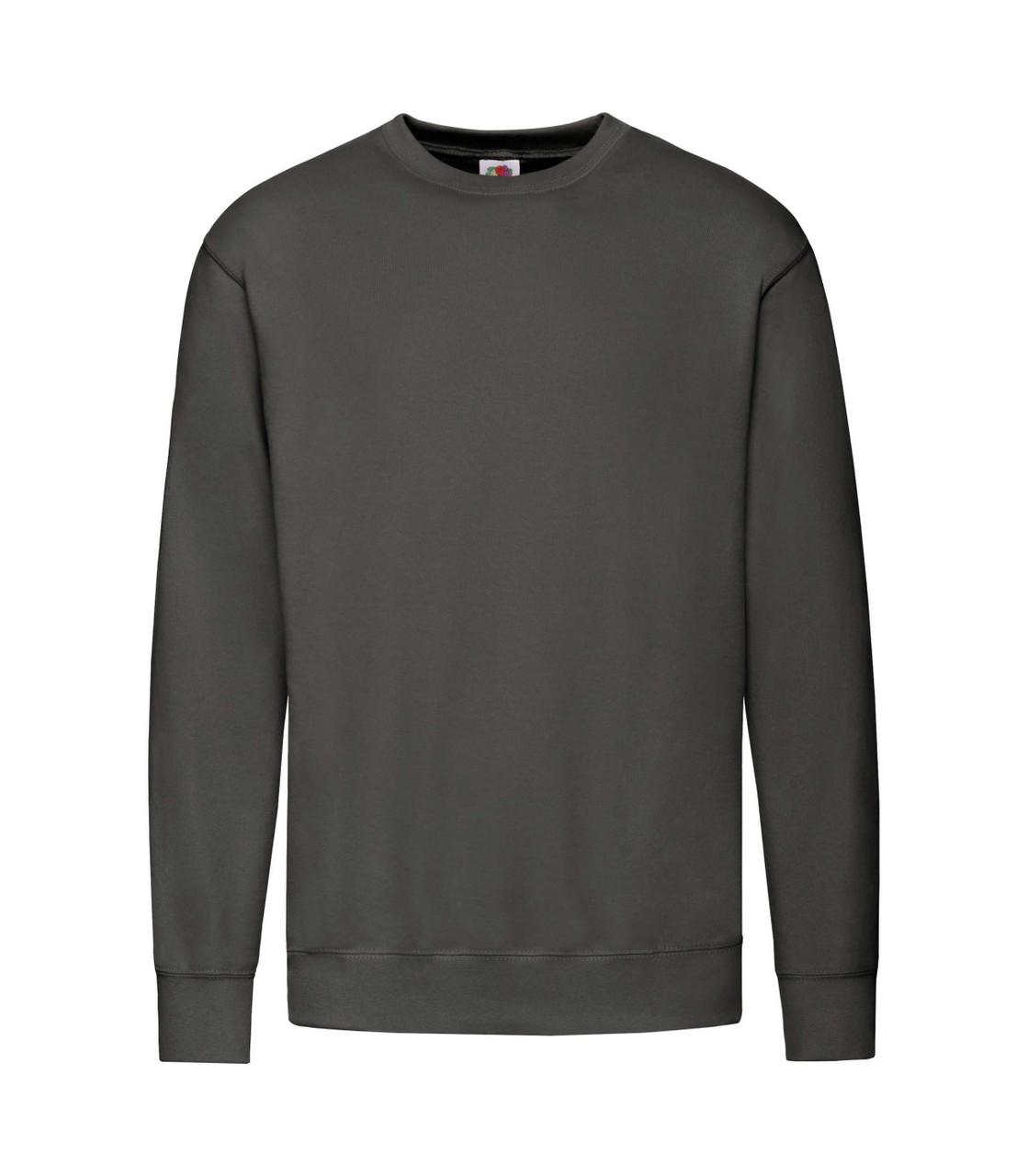 Мужской свитшот легкий темно-серый 156-GL