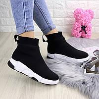 Женские чулочные черные кроссовки Leroy 1237