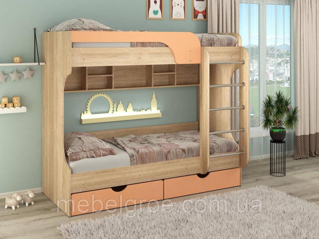 Кровать двухъярусная Юнга МДФ тм Пехотин