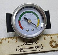 Эконометр вакуумметр разряжения автомобильный врезной стрелочный MPa под шланг (впуск коллектор)