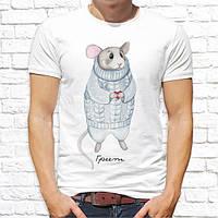 """Парные футболки с новогодним принтом """"Мышки"""" Push IT"""