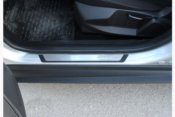Накладки на пороги Flexill (4 шт, нерж) Dacia