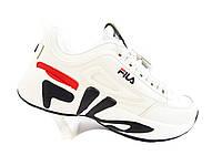 Кроссовки мужские в стиле Fila Disruptor Mindblower белые A618