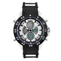 Часы наручные QUAMER 1103, BOX, ремешок каучук, dual time, waterproof