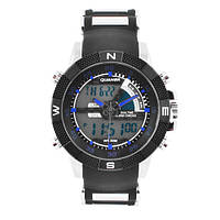Часы наручные QUAMER 1104, BOX, ремешок каучук, dual time, waterproof