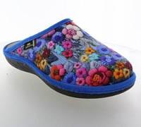 Женская обувь Spesita ‣ красивые комнатные тапочки ‣ Цветочный принт ‣ 615 FLORAL Blue Голубой 38