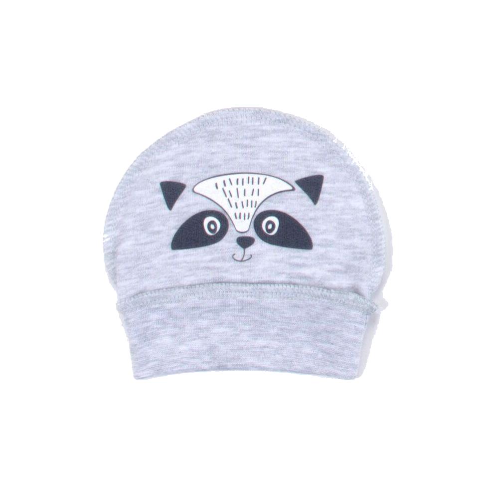 Шапочка с принтом Верес Little raccon футер з начесом серый