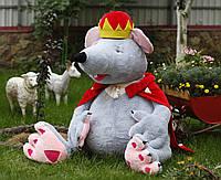 """Большая мягкая игрушка """"Король Крыс"""", плюшевая крыса, игрушка мышка, фото 1"""