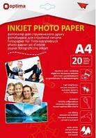 Фотопапір Фотобумага Optima А4, 230 г/м2, 20 арк., матовий