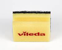 Губка жовта чорний абразів, 7х9,5 см, Vileda