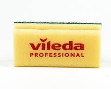 Губка жовта зелений абразів,  7х15 см, Vileda