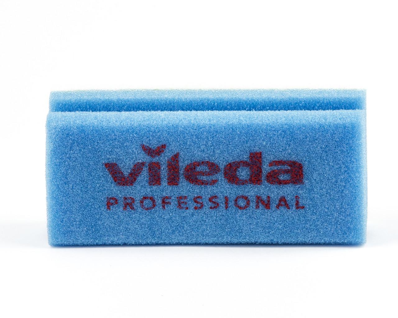 Губка синя білий абразів 7х15 см, Vileda