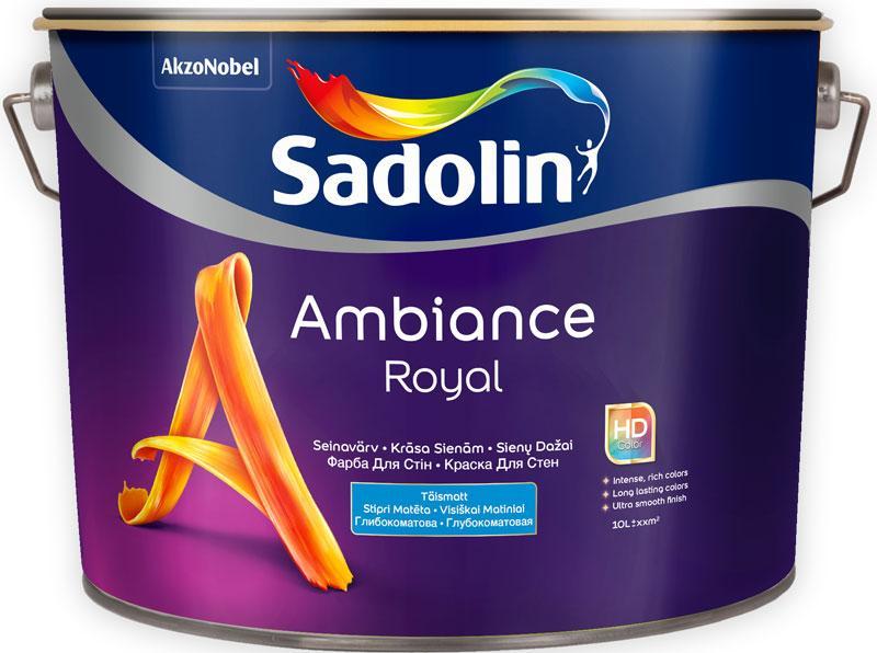 Глубокоматовая краска для стен Sadolin AMBIANCE ROYAL 10 л
