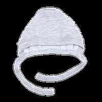 Чепчик Верес Little raccon футер з начесом серый