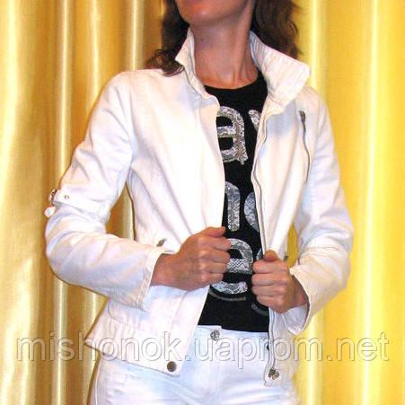Белая джинсовая куртка Mango S р.42-44