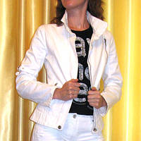 Белая джинсовая куртка Mango S р.42-44, фото 1
