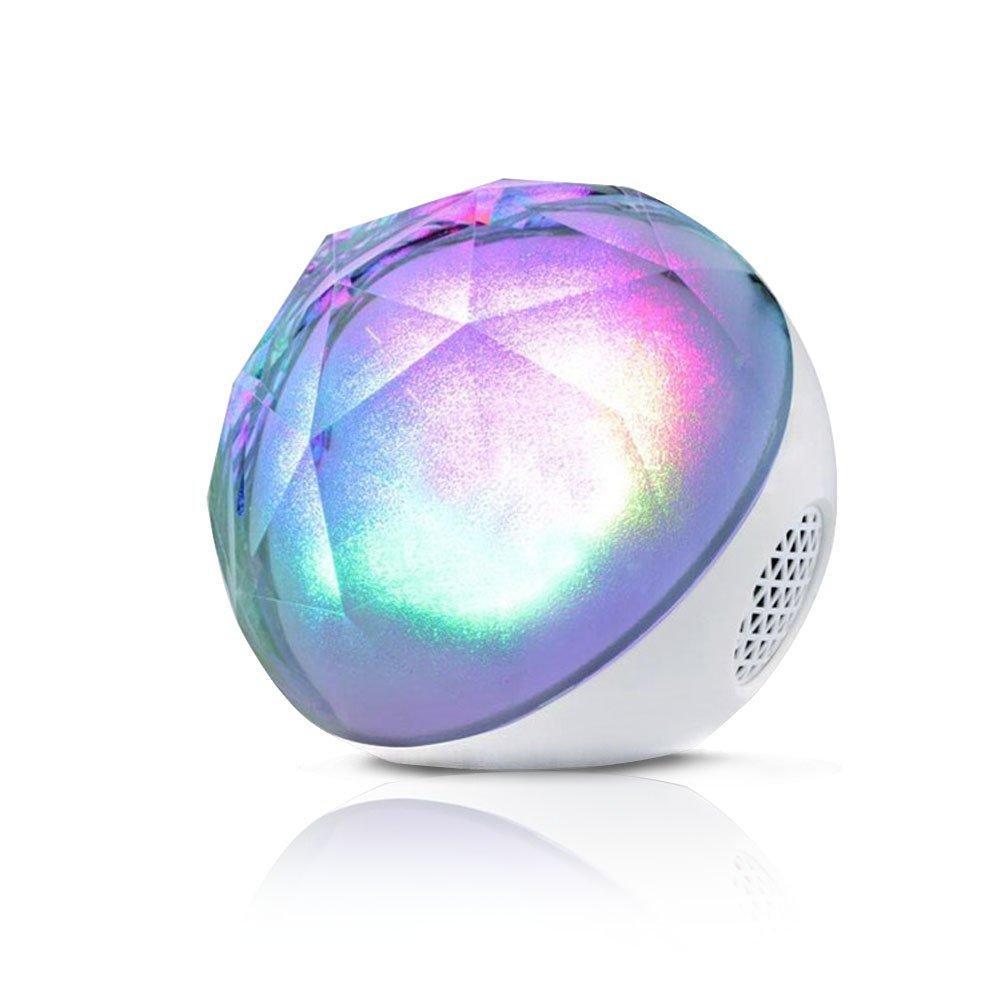 Колонка блютуз светящийся музыкальный шар Color Ball Speaker Bluetooth стерео с пультом и USB-плеером