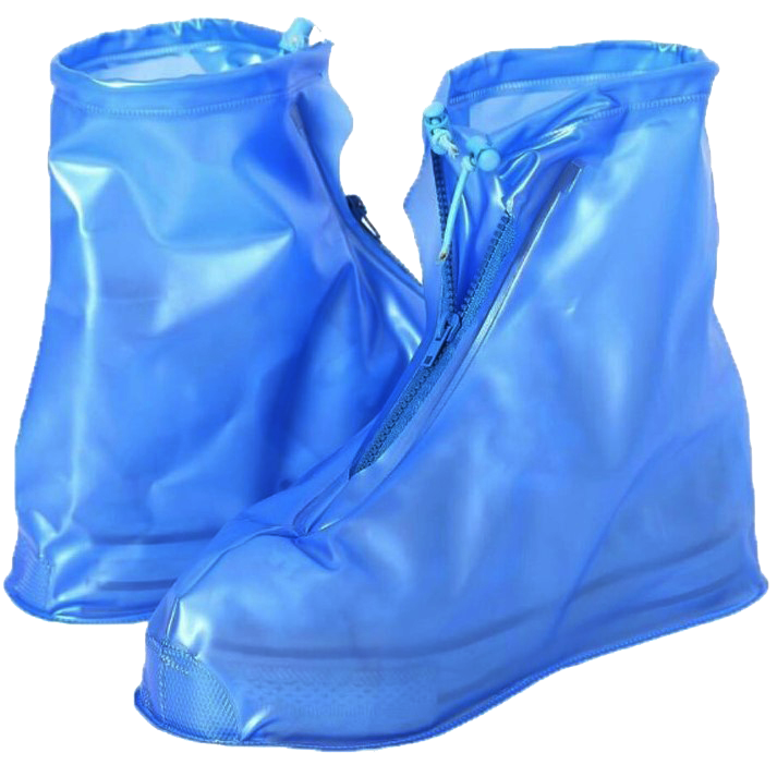 Бахилы от дождя 2Life размер L длина по наружной части подошвы 28 см Синий (n-336)