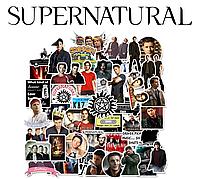 Набор виниловых наклеек Сверхъестественное / Supernatural 25шт.
