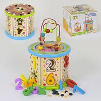 Деревянная игра Сортер с пальчиковым лабиринтом Fun Toys С 37672