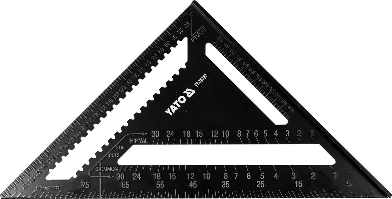 Угольник для плотника 300 мм, алюминиевый, Yato (YT-70787)