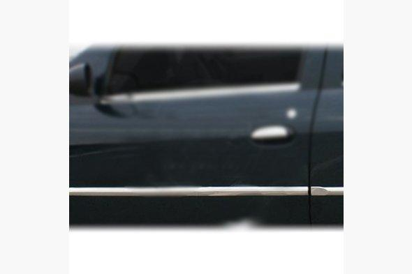 Молдинг дверей (4 шт, нерж., ) Dacia Logan I 2005-2008 гг.