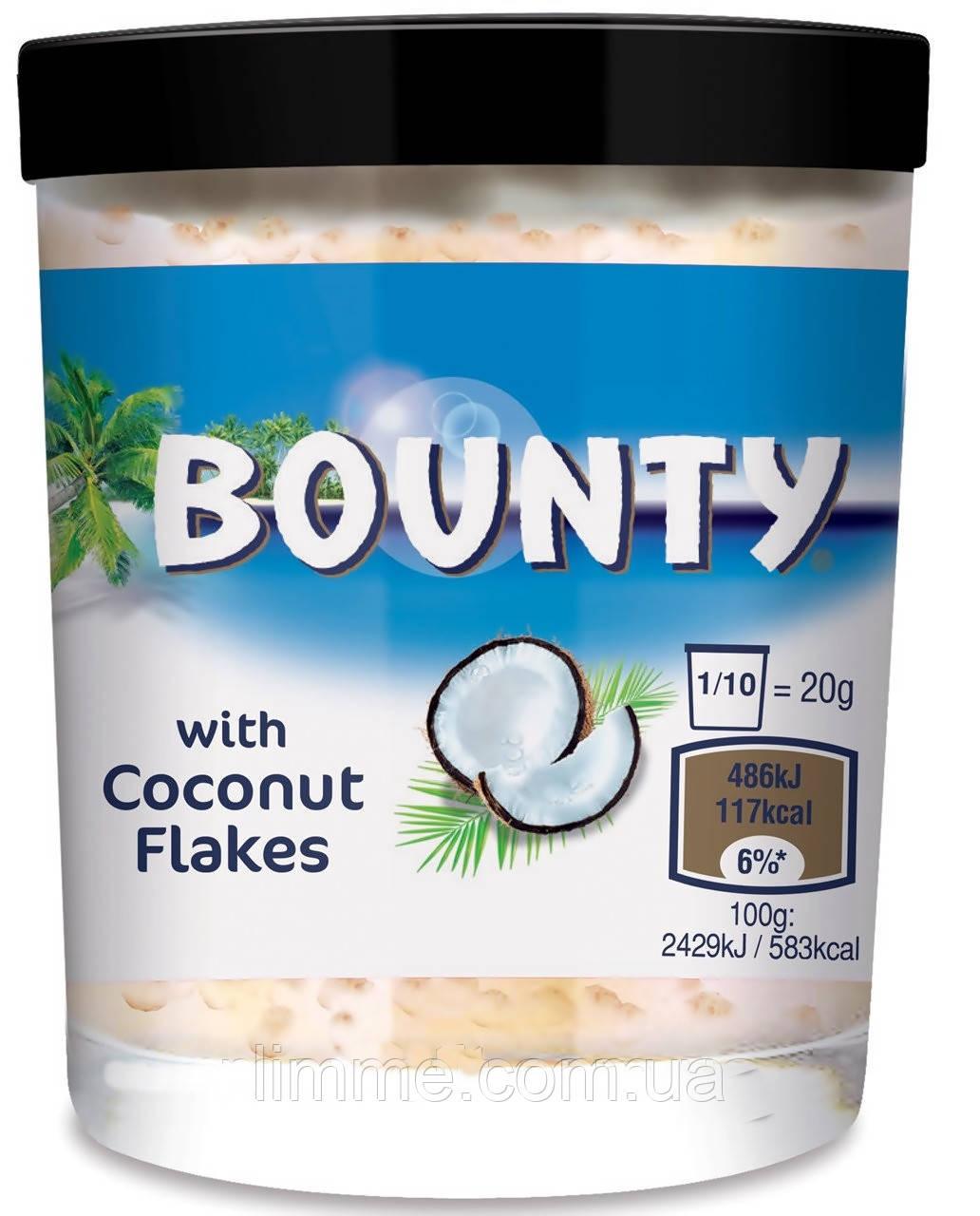 Шоколадная паста Bounty with coconut flakes 200 г