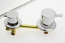 Смеситель для душевой кабины, ( Г-3\14 ) на три положения под резьбу 14 см по центрам., фото 2