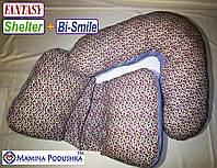 Комплект подушек Fantasy Shelter+Bi-Smile. Включены Наволочки 2-сторонние (Фиолетов.цветочки / Т.синие точки), фото 1