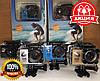 Спортивная экшн-камера водонепроницаемая A7 Sports HD 1080p c боксом и креплениями камера для подводной съемки