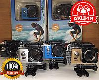 Спортивная экшн-камера водонепроницаемая A7 Sports HD 1080p c боксом и креплениями камера для подводной съемки, фото 1