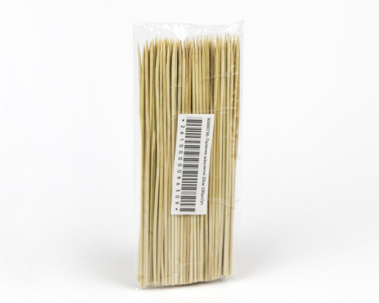 Палички для шашлику, 20 см, 100 шт