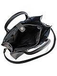 Кожаная сумка черная Sollo 6760-11, фото 3