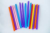Трубочка смузі, колір мікс, 9 мм х 21 см, 100 шт.