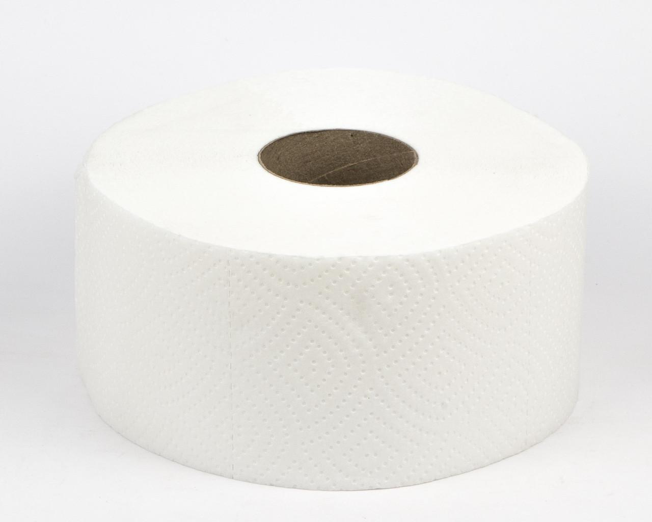 Папір туалетний білий в рулонах Джамбо, 2 шари, 100м, PRO3
