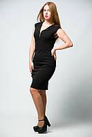 Женское платье без рукавов со змейкой на груди миди от бренда Adele Leroy