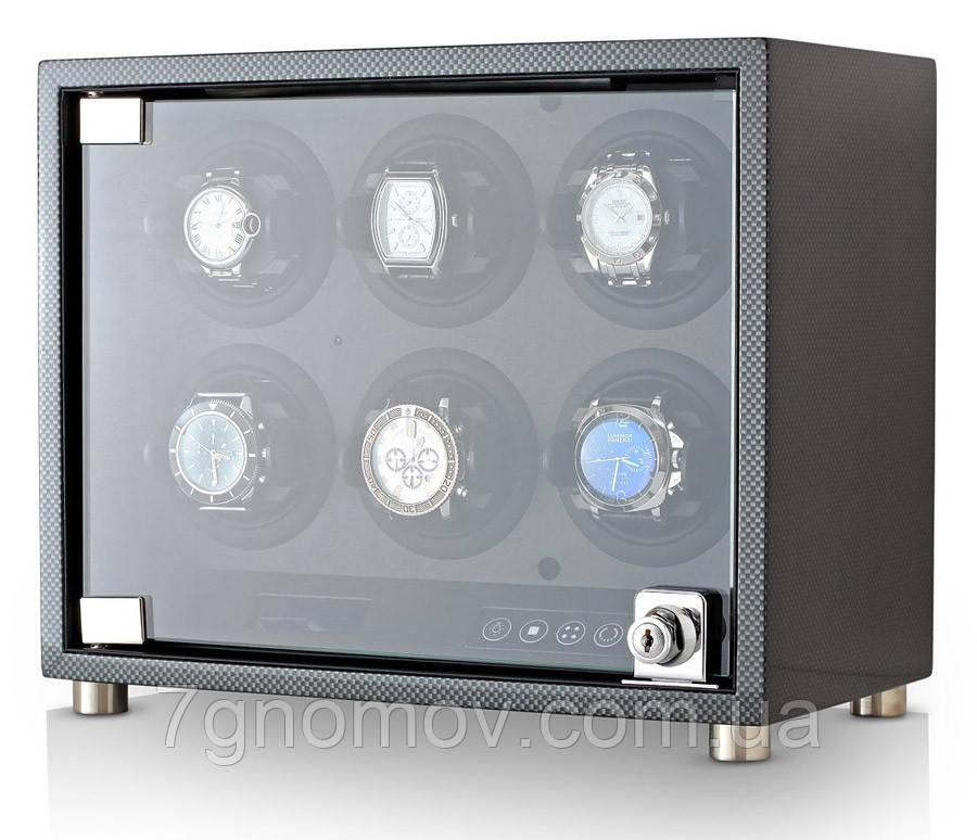 Шкатулка для подзавода часов, тайммувер для 6-и часов Rothenschild RS-6160-6TBD