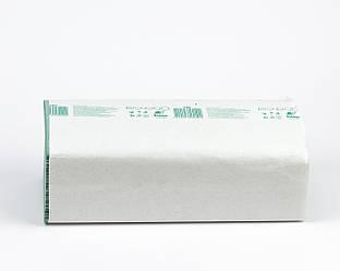 Рушники паперові макулатурні зелені, складені V, 1 шар, 160 аркушів