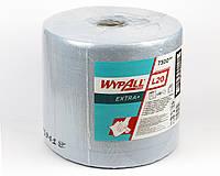 Протиральний матеріал Wypall L20 Extra+ в рулоні, блакитний, 47гр/м2, 500 аркушів, 2 шаровий, Kimberly-Clark