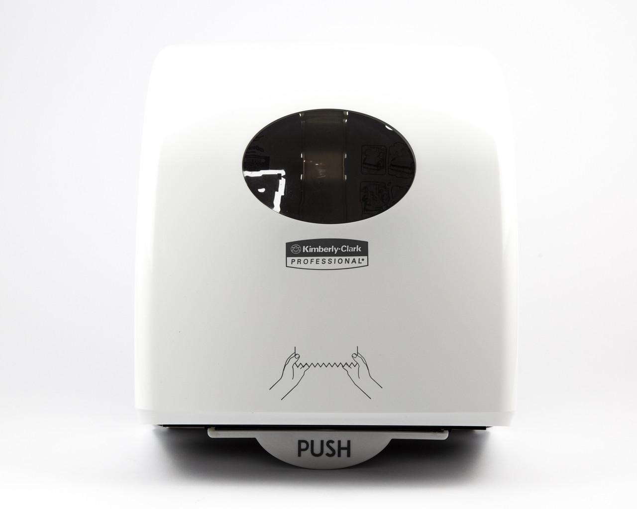 Диспенсер  пластиковий білий для рулонних рушників Slimroll з втулкою, Kimberly-Clark