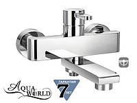 Смеситель для ванны с перключателем-изливом Aqua-World СМ40Сн.12