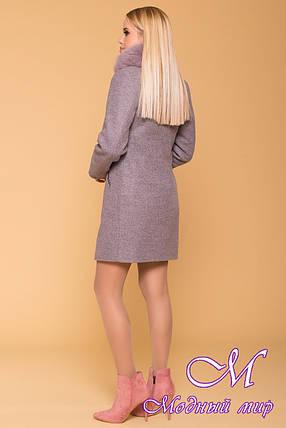 Зимнее женское пальто из кашемира (р. S, М, L) арт. Сплит 3821 - 40746, фото 2