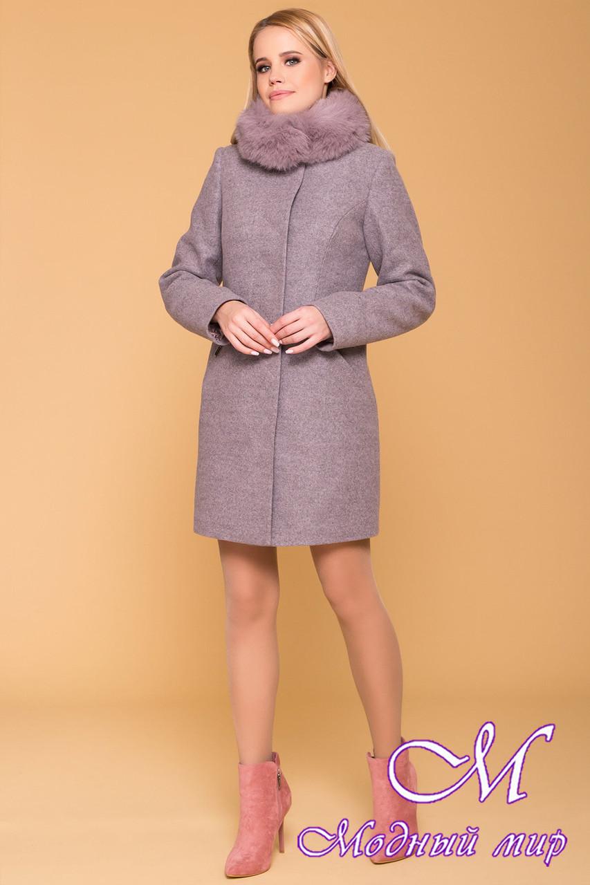 Зимнее женское пальто из кашемира (р. S, М, L) арт. Сплит 3821 - 40746