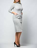 Женское платье с карманами рукавом три четверти до колена от бренда Adele Leroy
