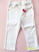 Летние белые брюки для девочек хлопок 3-4 года. Италия!!! 100 % хлопок. Детская летняя одежда.