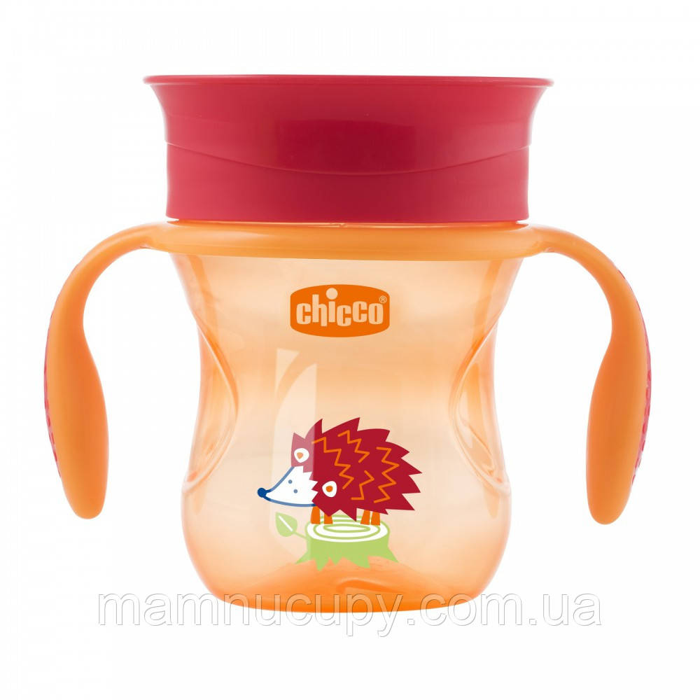 Чашка-непроливайка Chicco - Perfect Cup (06951.30R) 200 мл / 12 мес.+ / оранжевый