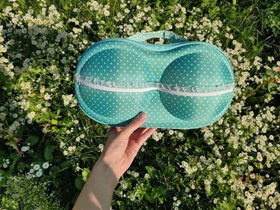 Органайзер - сумочка для бюстгальтеров (с сеточкой) мелкий горошек, фото 2