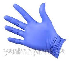 Нітрилові рукавички Фіолетові Mercator Medical Nitrylex Basic (100шт/уп), фото 2